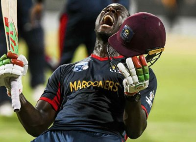 Carlos Brathwaite, captain of Combined Campuses and Colleges Marooners
