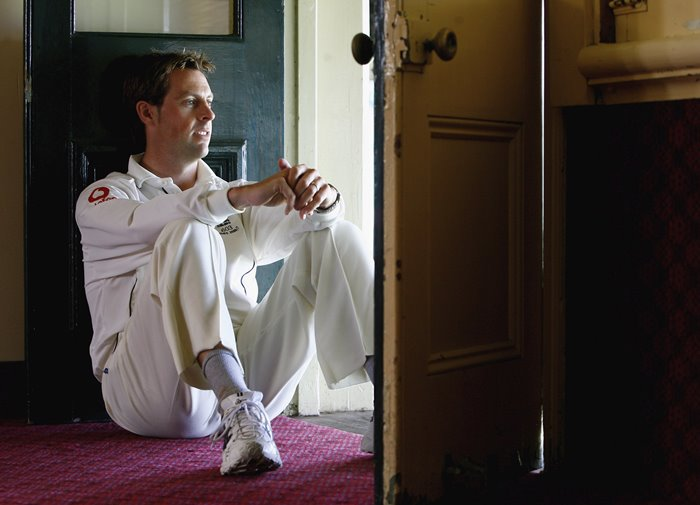Marcus Trescothick in the dressing rooms during an England Test match.
