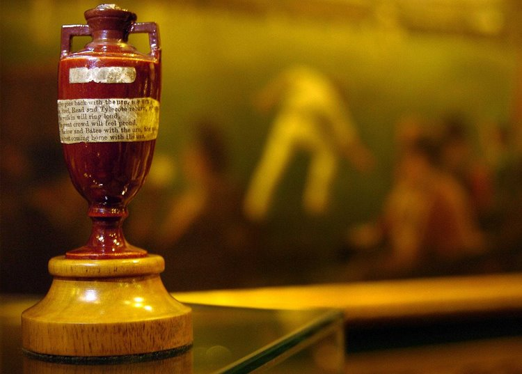 The Ashes Urn in the MCC Museum